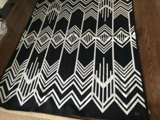 Pendleton Skywalker's Wool Blanket - Black And White - Twin - Rare