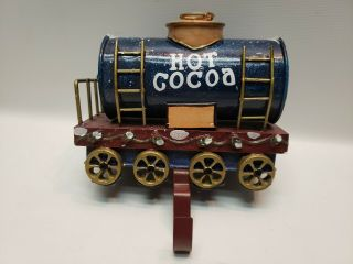 Rare Hot Cocoa Car Christmas Express Train Stocking Holder Metal Won't Last 1068