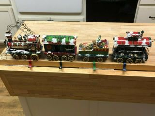 Christmas Express - Four Unique Piece Stocking Holder Set - Very Rare