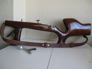 Rare Wooden Gun - Stock Leica Contax Exakta Rifle Grip Machine - Gun Style Norsrv