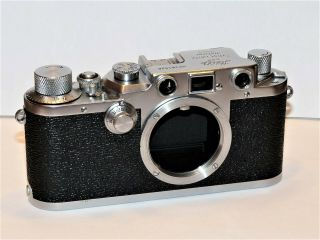 Leica Iiic Rf Camera - Sharkskin Covering With Rare Pattern,  Exc.  Cosmetics,  Read