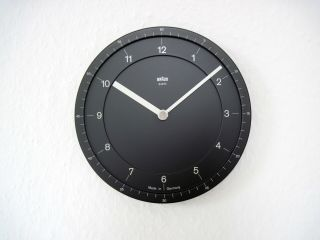 Rare Vtg 1981 Braun Domodisque Wall Clock 4839 Abw 41 Lubs Germany Rams Abk