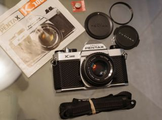 Rare Diamond Pentax K1000 Se W/ Smc Pentax - M 50mm F/1.  7 / Light Seals Japan