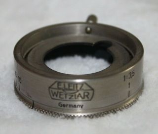Rare Leica Aperture Control Ring Nickel For 50mm Nickel Elmar Lens Valau