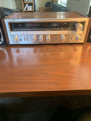 Rare Vintage Pioneer Sx - 720 Black Face Stereo Receiver