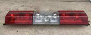 Vintage Code 3 Force 4 Xl 4xl Light Bar Red White Police Emergency Rare