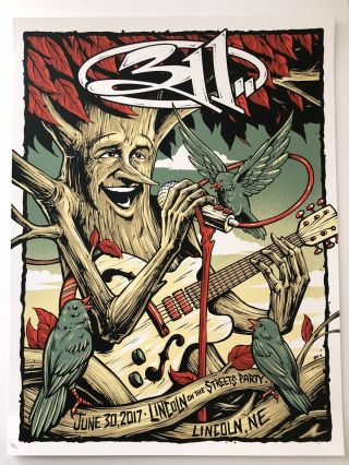 311 Poster Lincoln On The Streets Nebraska Nick Hexum Pnut Rare Heart