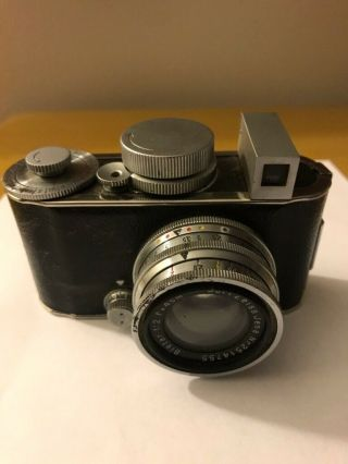 Very Rare Robit Camera,  Otto Berning & Co,  With Carl Zeiss Jena Biotar Lens 1:2