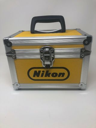 Rare Nikon Vintage Yellow Hard Aluminum Camera Case Purchased In Switzerland