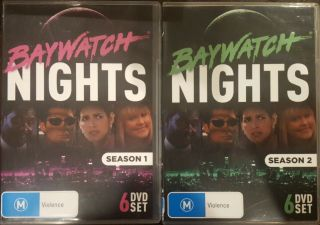 Baywatch Nights Complete Season 1 & 2 Rare Dvd David Hasselhoff Tv Beach Series