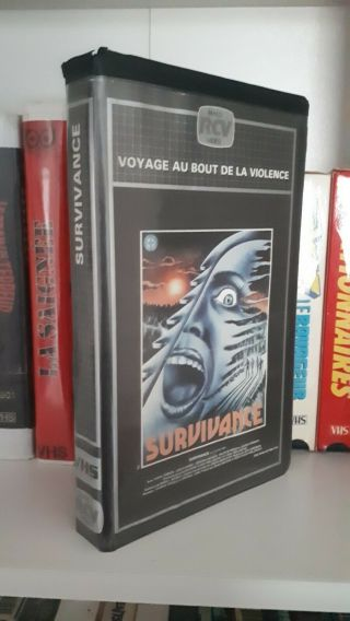 Survivance Ntsc French Vhs Uncut Ultra Rare Jeff Liberman Big Box