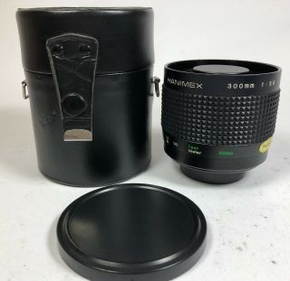 Rare Hanimex 300mm F5.  6 Reflex Mirror Lens T Mount 92 And