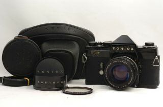 @ Ship In 24 Hrs @ Rare @ Konica Fp 35mm Slr Film Camera Hexanon 52mm F1.  4 Lens