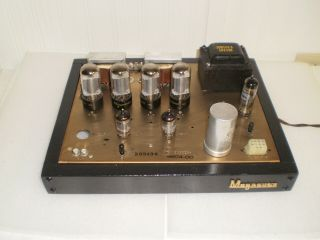 Magnavox Stereo Tube Amplifier,  Rare Gold Anodized Chassis,  6v6 Outputs