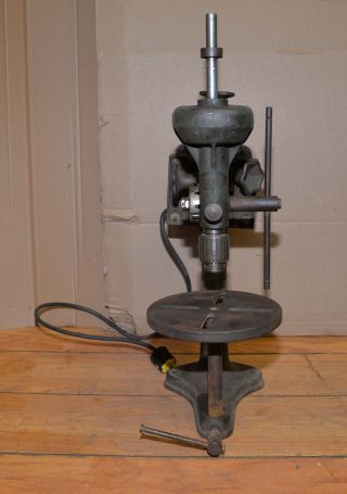 Rare Walker Turner Drive Line Bench Drill Press Collectible Machinist Tool Early