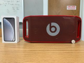 Rare Red Lil Wayne Limited Ed.  Beats By Dre Beatbox Portable Bluetooth Speaker
