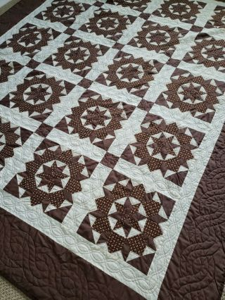 "Authentic Handmade Amish Quilt From Vt Queen/ King Size 107"" X 89 "" Fit Both Rare"