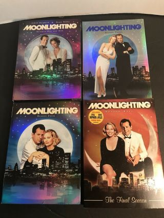 Rare Moonlighting Dvds Complete Series 1 2 3 4 5 Bruce Willis Cybill Shepherd