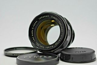[rare 8 Element Exc,  4] Asahi Pentax Takumar 50mm F/1.  4 F1.  4 Lens M42 Japan