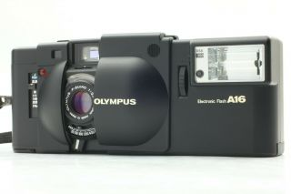 Rare,  W/a16 Olympus Xa 35mm Rangefinder Camera A16 Flash Strap Japan