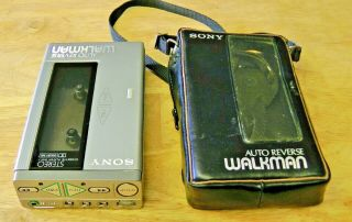 Extremely Rare Sony Walkman Personal Cassette Player Wm - 7 Metal Body Case