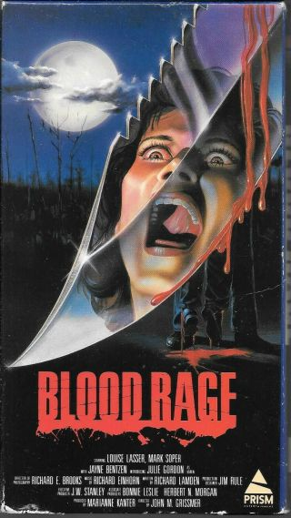 Blood Rage 1987 Vhs Horror.  Rare 80