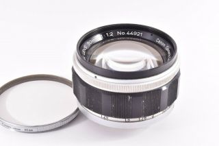 Rare Canon 50mm/f1.  2 Leica 39mm Lmt Screw Mount 44921