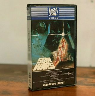 Star Wars Very Rare Australian Vhs Video Rental Release 1982 Misprint