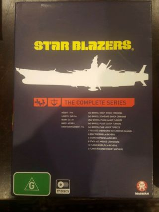 Star Blazers Complete Series Rare Dvd Box Set Anime Japanese Anmiation Cartoon