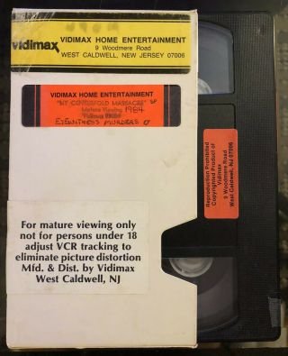 Rare Ny Centerfold Massacre Vhs Vidimax Early Sov 1984 Owner