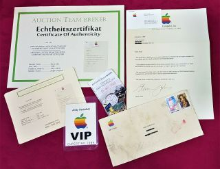 Steve Jobs 100 Hand Signed Letter From Apple Company (1984) Very Rare