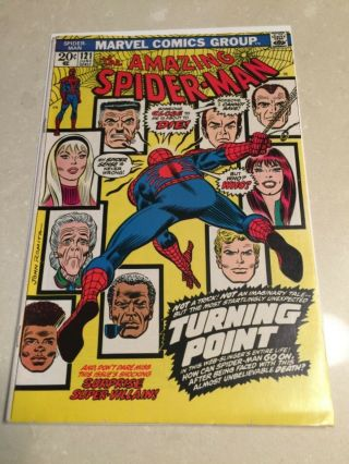 Rare 1973 Bronze Age Spider - Man 121 Key Death Gwen Stacy Complete