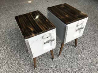 Airline Galley Box End Tables / Bedside Tables (set Of 2) Handmade - Rare