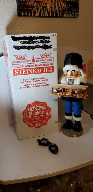 "Rare 18"" Steinbach ""the Aviator - One Hundred Years Of Flight"" Nutcracker"