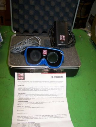 Rare Cambridge Research Systems Fe - 1 Ferro Electric Shutter Goggles