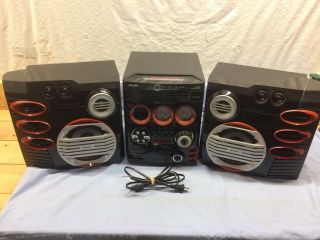 Rare Philips Gaming Stereo Fw - C577 Audiofile High End 5 Disc Cd Player Radio