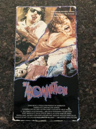 The Abomination Vhs 1988 Rare Oop Sov Horror Donna Michelle Dm103