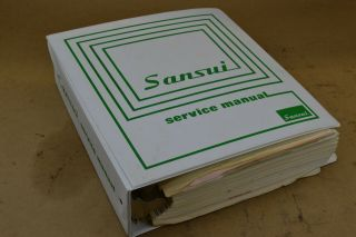 Rare 1972 Sansui Stereo Electronic Equipment Dealers Service Manuals Audiophile