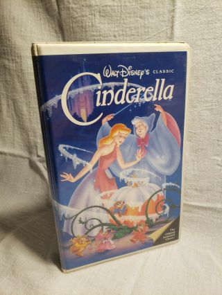 Walt Disney Cinderella Black Diamond 410 Vhs 1988 Rare Looks Good