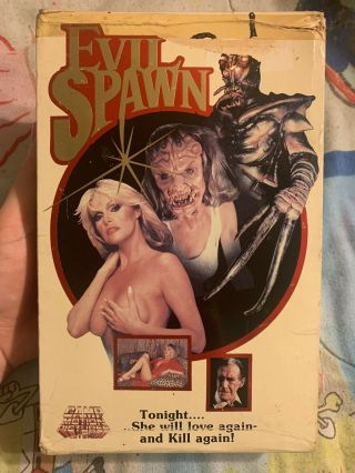Evil Spawn Big Box Vhs Camp Motion Horror Gore Rare