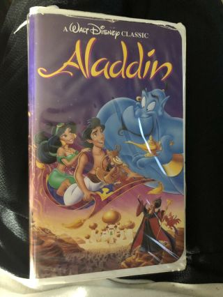 Aladdin Black Diamond Vhs Collectors Edition.  (rare.  1662) Disney Classic