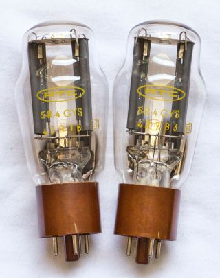 5r4gys Rtc 274b We274b 5r4g 5r4gy Very Rare French Tubes Matched Pair
