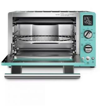 Countertop Toaster Oven Kitchenaid Convection 1800 Watt Aqua Sky Blue Rare Euc