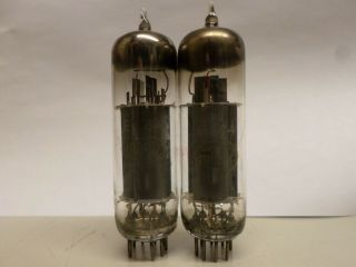 Rare Pair El84 Whit 45 Degree D - Getters From Lorenz Germany,  6bq5.