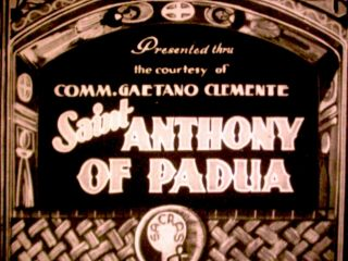 Rare Silent Era Music - Scored Religious Drama St.  Anthony Of Padua