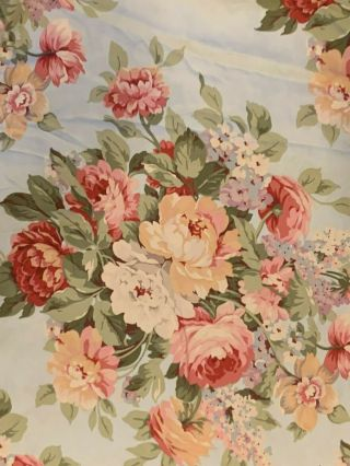 Ralph Lauren Floral Stone Harbor Duvet King Sateen Shabby Cottage Chic Rose Rare