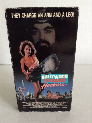 Hollywood Chainsaw Hookers Vhs Camp Video Rare Horror Linnea Quigley Gunnar Hans