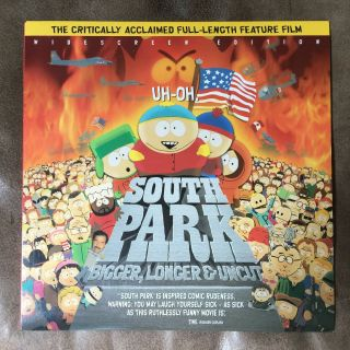 South Park Bigger Longer & Uncut Movie Widescreen Laserdisc Rare 1999 81min R