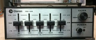 Clarion 200 - Eqb Equalizer Booster.  Very Rare Old School Amp