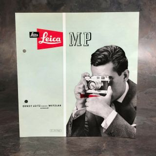 :original 1956 Leica Leitz Mp Leicavit Brochure English [very Rare Hard To Find]